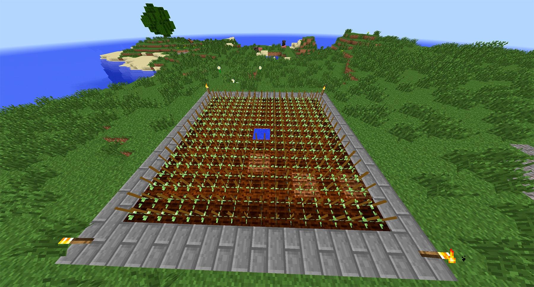 Авто ферма земляных культур в IC2 (3.3)