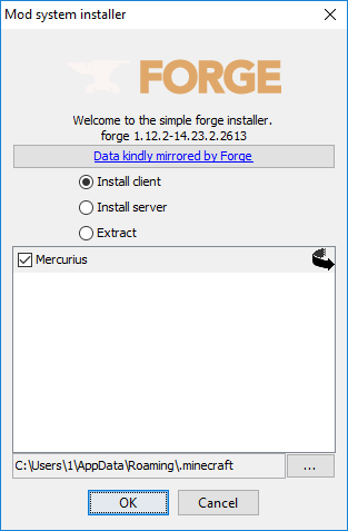 1 - Запуск Forge