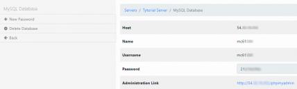 Создание mySQL базы данных (Шаг 3)